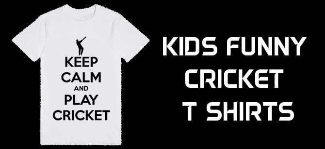 Kids Funny Cricket T Shirts