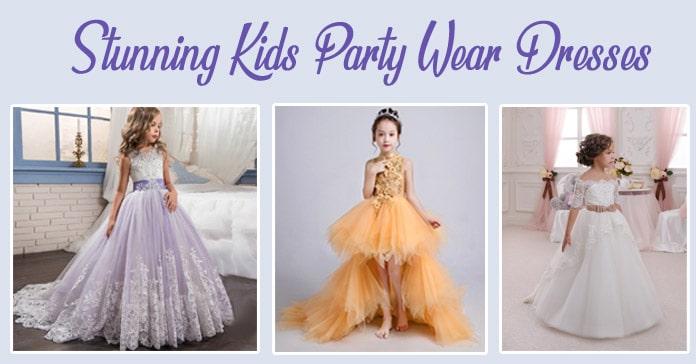 Kids Party Dresses - Little Girls Party Wear Dress