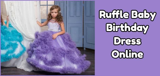 Ruffle Baby Birthday Dress Online