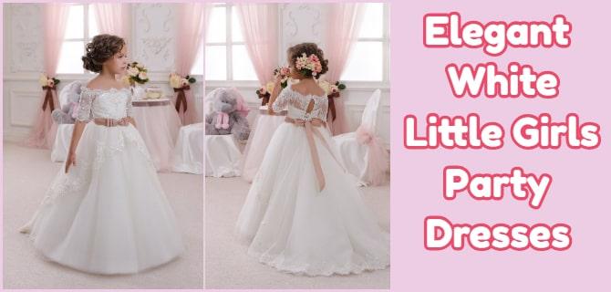 White Little Girls Party Dresses Online Shopping
