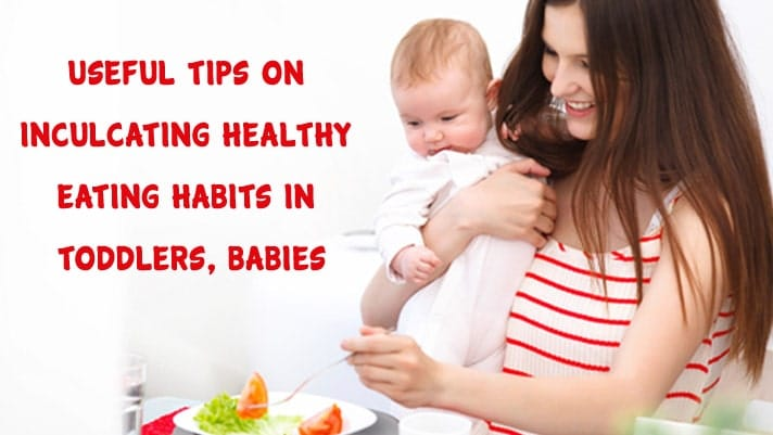 Toddlers and Baby Eating Healthy Food