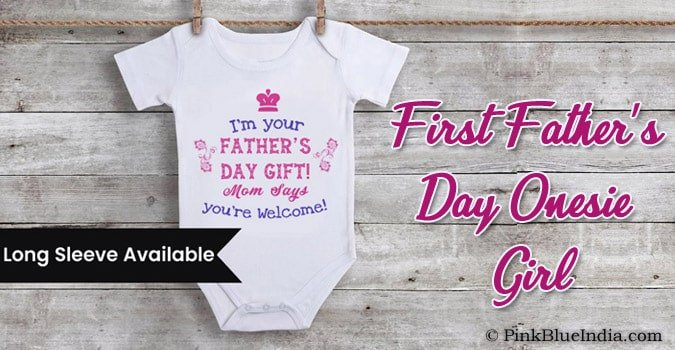 First Father's Day Onesie Girl - Custom Baby Romper