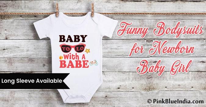 Funny Newborn Baby Girl Bodysuits