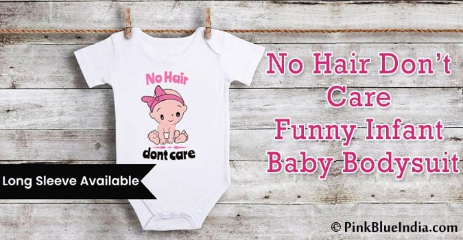 No Hair Don't Care Funny Baby Bodysuit - Infant Romper