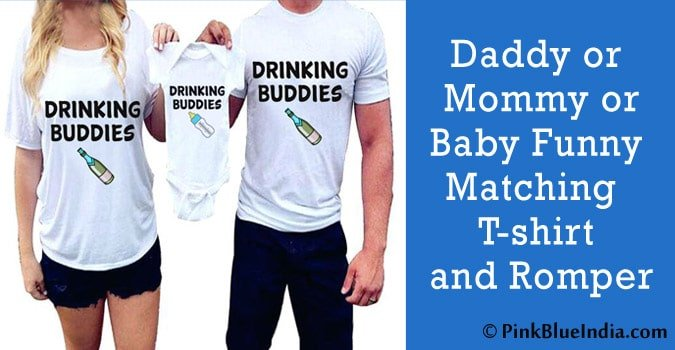 Daddy/Mommy Funny Matching T-shirt and Baby Romper