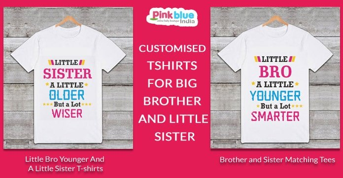 Customised Tshirts for Big Brother and little Sister