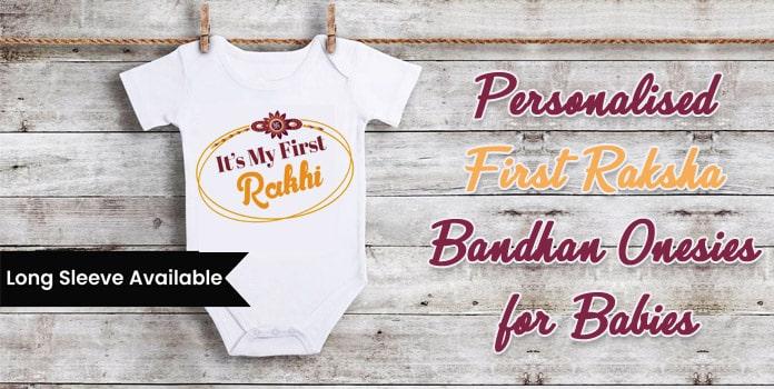 Personalised First Raksha Bandhan Onesies