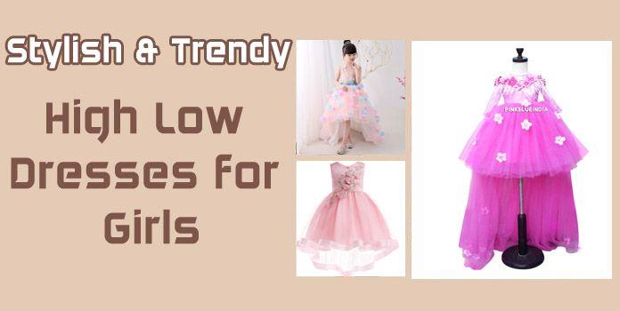 Girls High Low Dresses - Kid Girl Party Wear Dress