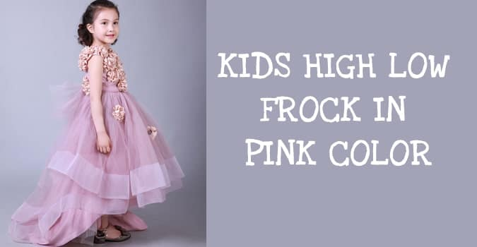 Kids High Low Frock - High Low Gown