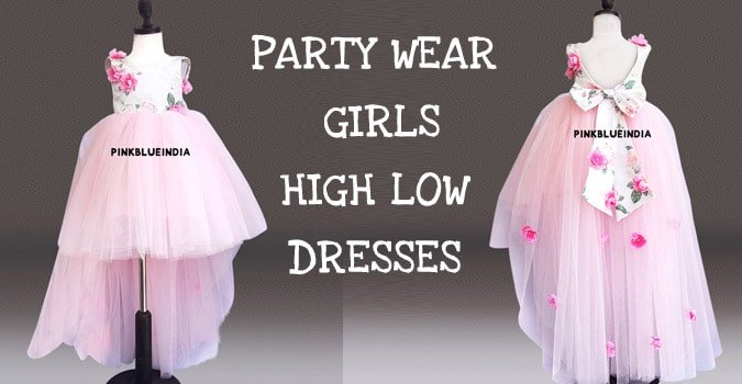 Girls Party Wear High Low Dresses