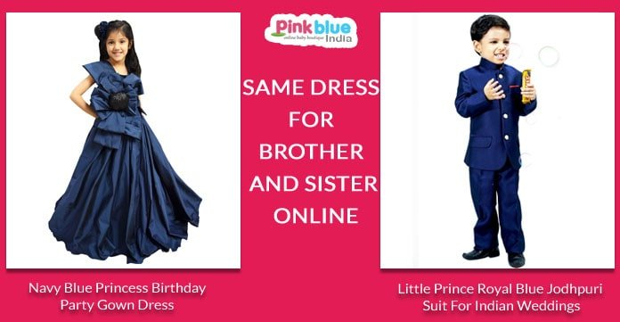 Personalised Twin Baby Clothing - Kids Sibling Outfits India