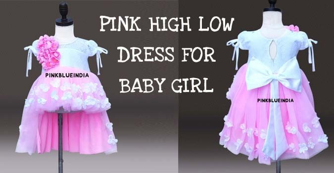 Pink High Low Dress for Baby Girl