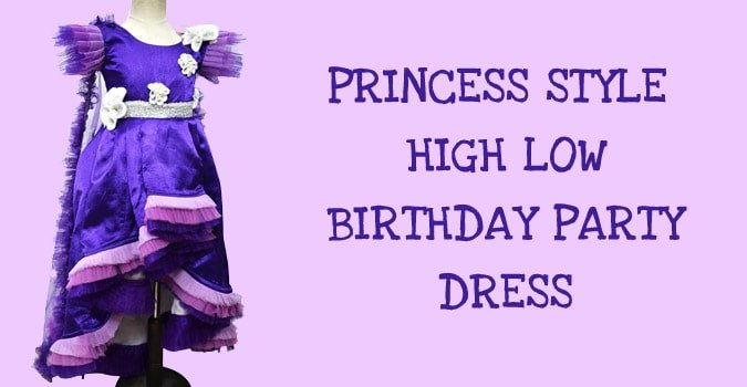 Princess Style High Low Party Dress