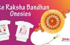 Cute Raksha Bandhan Painted Onesies | Rakhi Gifts for Brother/ Sister