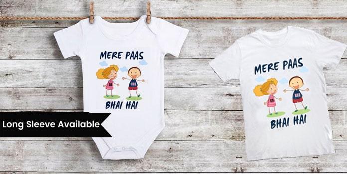 Mere Pass Bhai Hai, Raksha Bandhan Onesie, Kids T-shirts
