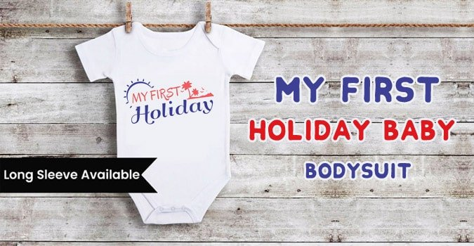First Holiday Baby Bodysuit, Summer Holiday Romper Clothes