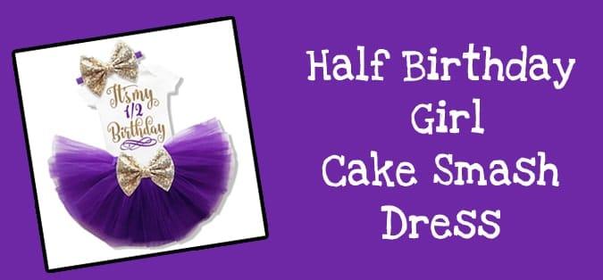 Half Birthday Girl Outfit, Six Month Birthday Cake Smash Dress