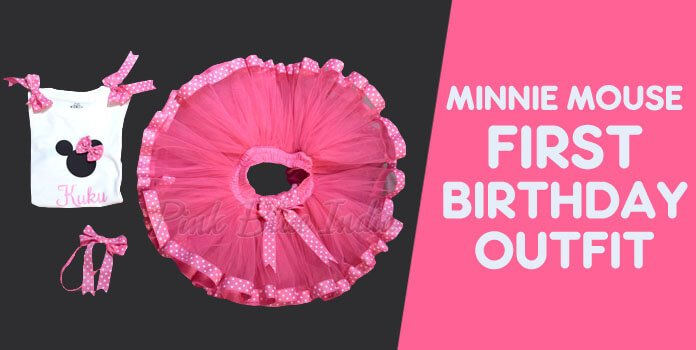 Minnie Mouse First Birthday Outfit for Girl