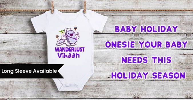 First Holiday Trip - Personalised Vacation Onesie, Baby Boy Girl Bodysuit