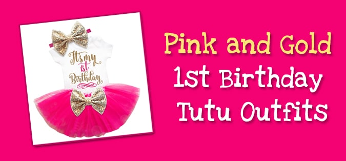 Pink and Gold 1st Birthday Tutu Outfit