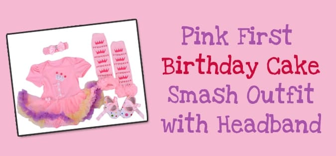Pink first birthday outfit, Pink Cake Smash Baby Outfit, Pink Headband
