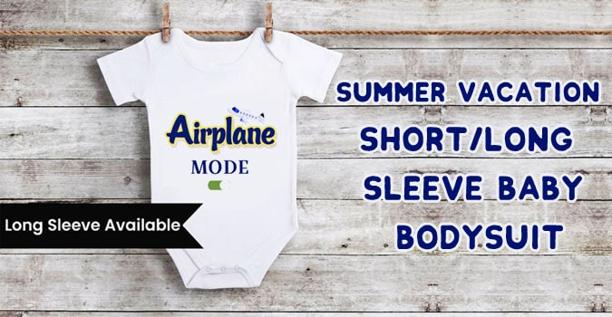 Summer Vacation Short/Long Sleeve Baby Bodysuit