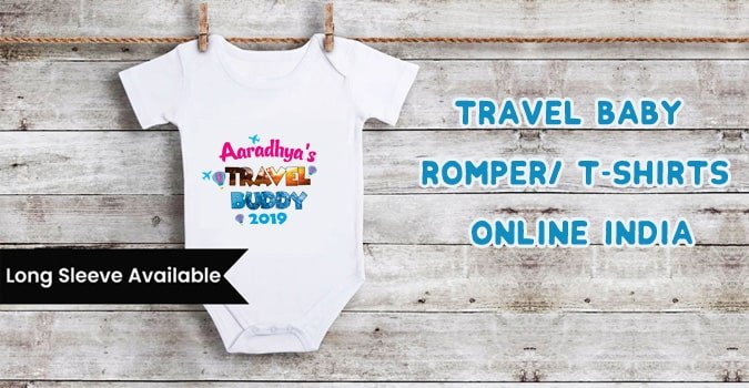 Travel Baby Romper, Travel Kids T-Shirts Online India
