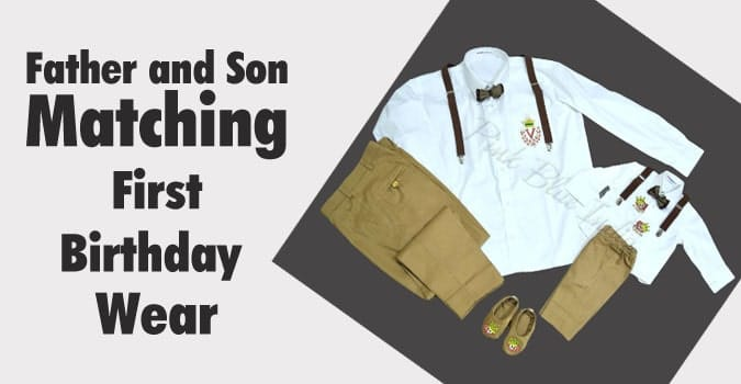 Dad and son matching outfits - first birthday Father Baby Outfit set