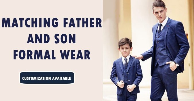 Matching Father and Son Formal Wear, Formal Outfits India