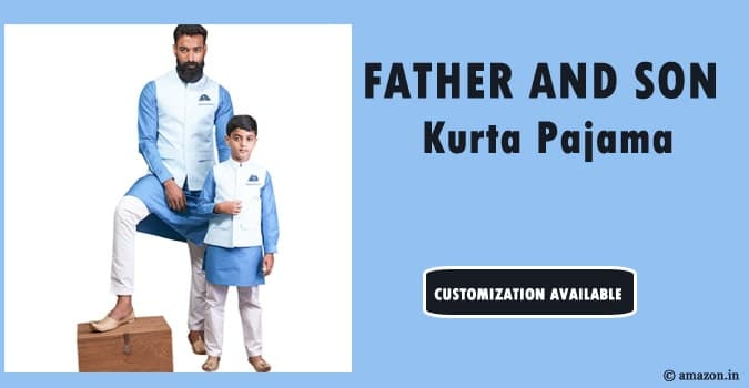 Father and Son Kurta Pajama, Matching Dad Son Kurta
