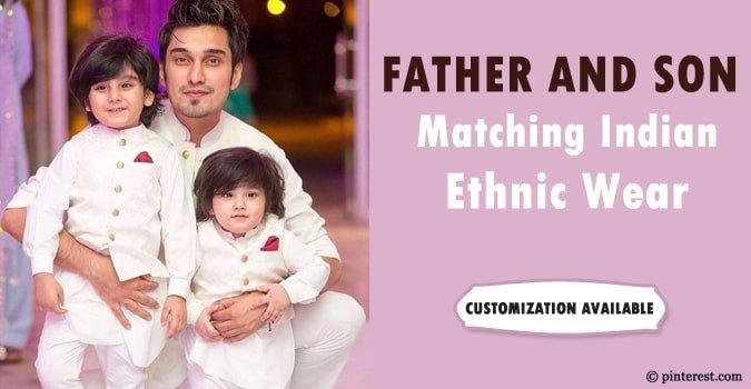 Father and Son Matching Indian Ethnic Wear