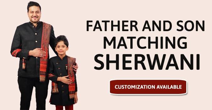 Father and Son Matching Sherwani