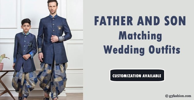 Father and Son Matching Wedding Outfits, Dad Son Dresses