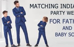 Matching Indian Party Wear for Father and Baby Son