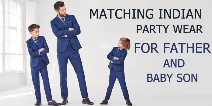 Father and Son Party wear Outfits, Dad Son Ethnic Wear, Dresses India