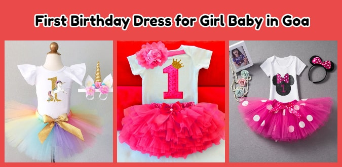 First Birthday Dress for Girl Baby in Goa