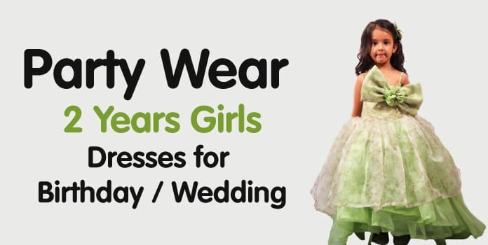 2 years Girls Dresses - Baby Birthday, Wedding Dress Online India