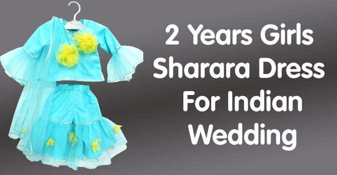 2 Years Girls Sharara Indian Wedding Dress