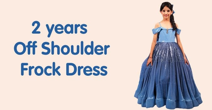 2 years off shoulder frock dress for girl