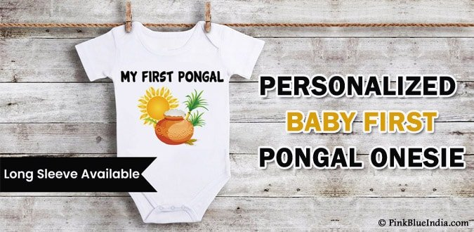 Baby First Pongal Onesie - Newborn Baby Pongal Dress