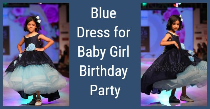 Baby Girl Birthday Party Blue Dress -  2 years Girls Dress