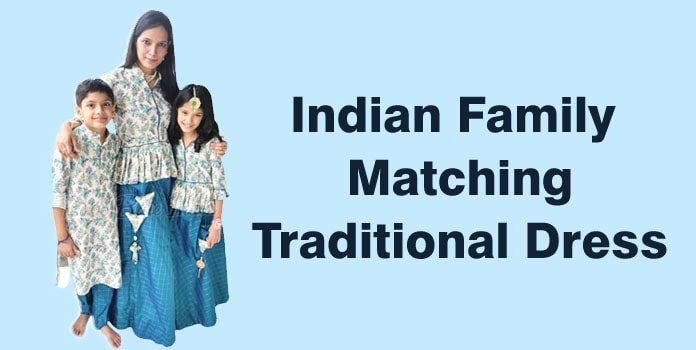 Indian Family Matching Dress, Mom Daughter Son Traditional Dresses