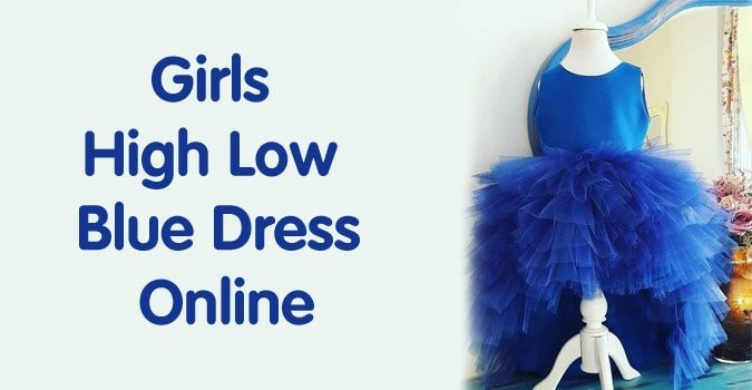 Girls High Low Blue Dress Online - 2 years Dress