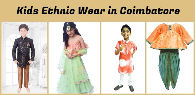 Kids Ethnic Wear in Coimbatore - Girls Ethnic Wear