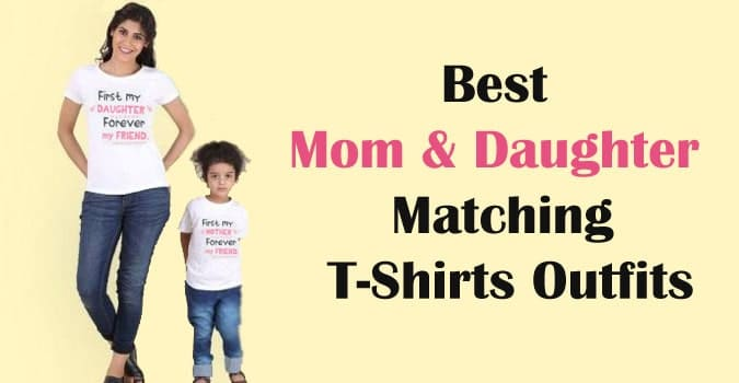 Mom Daughter Matching T-Shirts Outfits, Mother Daughter Tees