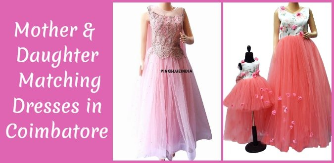 Mother & Daughter Matching Dresses Coimbatore