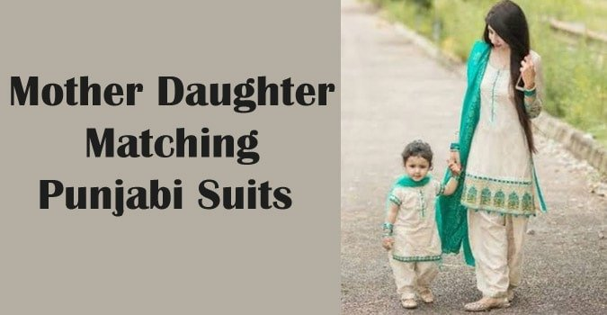 Mother Daughter Matching Punjabi Suits, Mom and Me Salwar Kameez