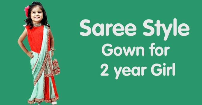 2 years Girl Saree Style Gown