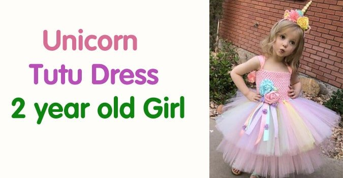 Unicorn Tutu Dress 2 year old Girl