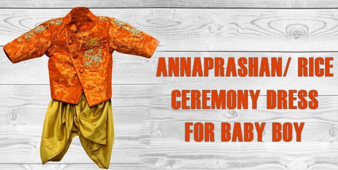 Baby Boy Annaprashan Dress - Rice Ceremony Dress